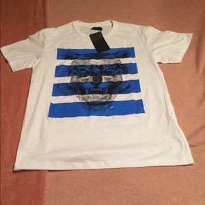 Zara Men's Graphic White T-Shirt